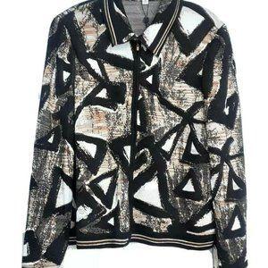 St. John Knit Jacket Womens Size 14 Full Zip Front